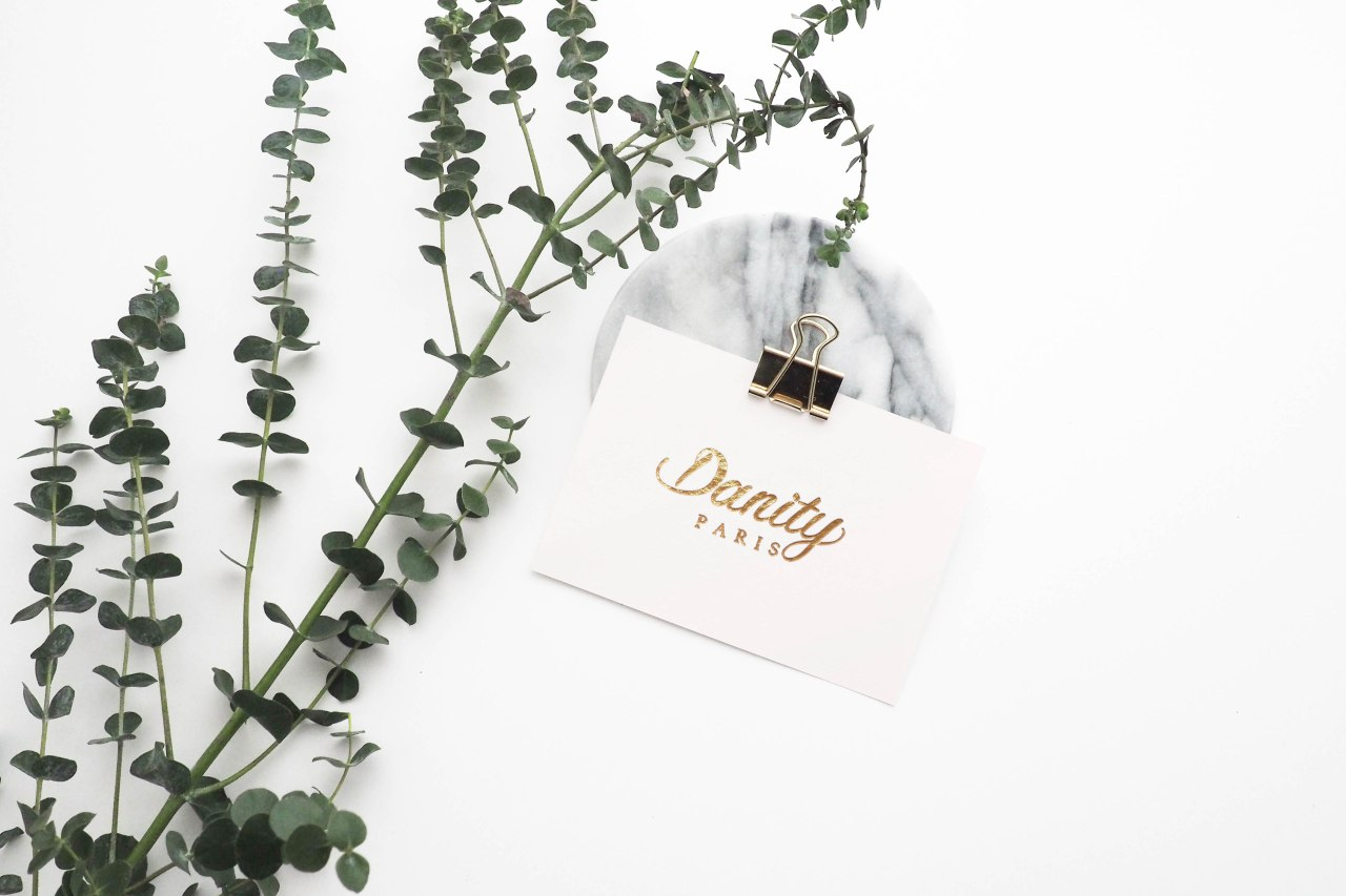 Danity Paris mockup Card